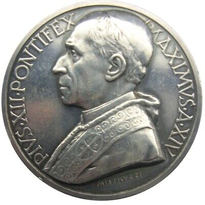 MEDAL - Pope Pius XII - XIV Year 1952 - VATICAN  Sepulcher of St. Peter - Silver