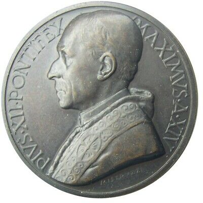 MEDAL - Pope Pius XII - XIV year of 1952 - Sepulcher of St. Peter - bronze - UNC