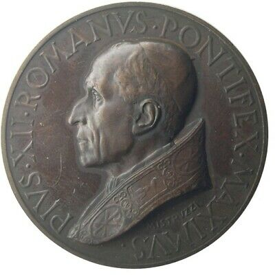 MEDAL - Pope Pius XII - Year XII 1950 - Memorial Holy Door - bronze - UNC  43.5