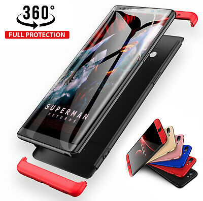 Hülle iPhone X XS Max XR 8 7 6 Plus Full Cover 360° Handy Case Apple + Glas 9H