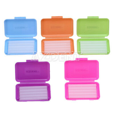 UK 5 Boxes Dental Orthodontic Wax Colorful Mixed Scent for Braces Gum Irritation
