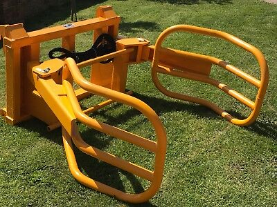 BALE GRAB/SQUEEZE WITH JCB q-fit BRACKETS TELEHANDLER /TRACTOR/TELEPORTER