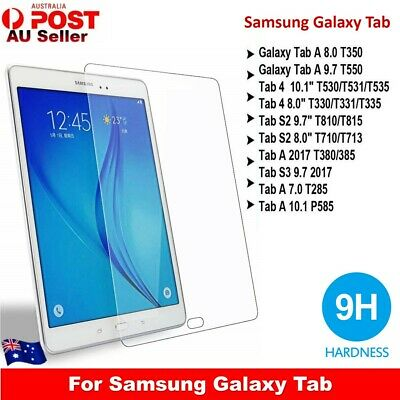 """9H Tempered Glass Screen Protector For Samsung Galaxy Tab A10.5"""" 9.7""""10.1"""" S2 S4"""
