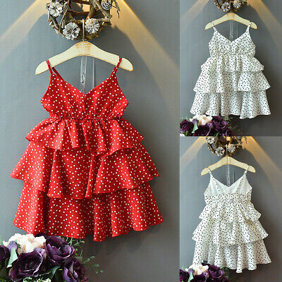 Toddler Kids Baby Girls Summer Sleeveless Party Princess Sling Cupcake Dresses