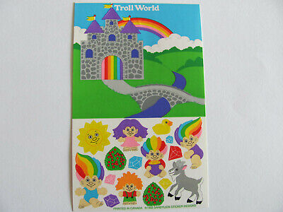 Rare Vtg 90's Sandylion Troll World Castle Goat Diamond Doll Maxi Sticker Sheet