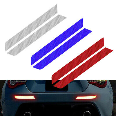 2PCS Car Warning Strip Reflective Tape Safety Bumper Reflector Stickers Decals