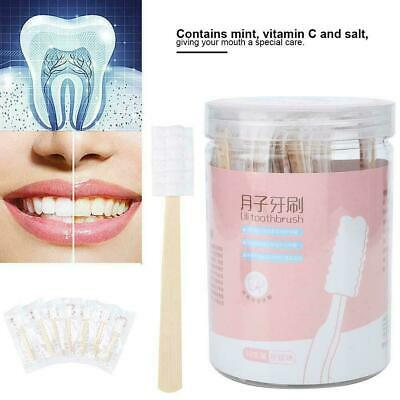 30pcs Disposable Bamboo Handle Maternity Gauze Toothbrush for Pregnant Women