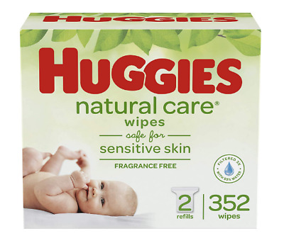 Baby Wipes - Huggies Natural Care Unscented, Sensitive, 2 Refill Packs, 352 Ct