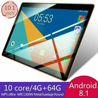 10.1'' Tablet Android 8.1 Bluetooth PC 8+128G ROM 2 SIM GPS Smartphone WIFI Pad