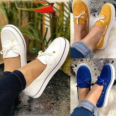 Women Moccasin Suede Slip On Flat Loafers Lady Casual Ballerina Ballet Shoes New