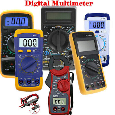 Portable Digital Multimeter Backlight AC/DC Amp Volt Ohm Tester Clamp Meter WT