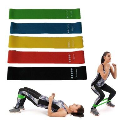 Resistance Bands Loop Set Exercise Sports Fitness Home Gym Yoga Latex *New