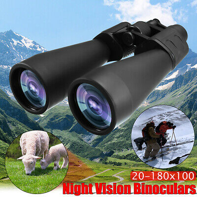 Zoomable 20-180X100 Binoculars Outdoor Hunting Travel Optical Telescope Funny