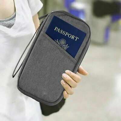 Family Travel Organiser Passport Document Holder RFID Card Wallet Pouch TU