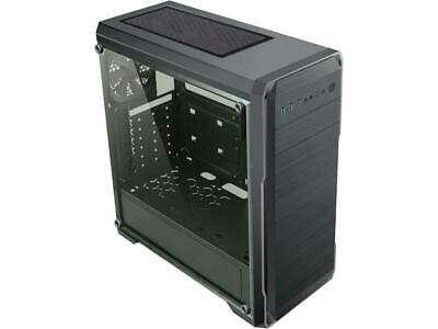 DIYPC DIY-A1-BK Black Tempered Glass USB 3.0 ATX Mid Tower Computer Case with 1