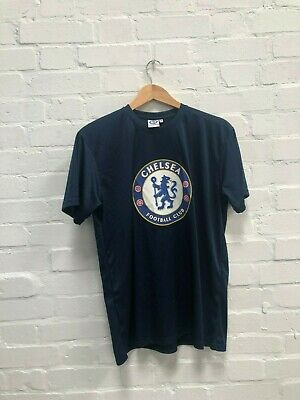Chelsea FC Official Men's Club Poly T-Shirt - Medium - Navy - New
