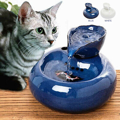 Pet Drinking Water Fountain Electric Cat Dog Automatic Bowl Filter & USB Cable