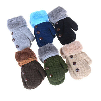 Toddlers Girl/Boy Baby Kids knitting Gloves Mittens Snow Flower Winter Warm、 hb
