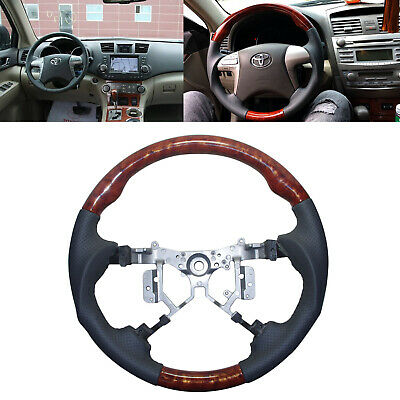 Gray Leather Steering Wheel for 2012-2014 Toyota Fortuner Hilux  Allion Blade