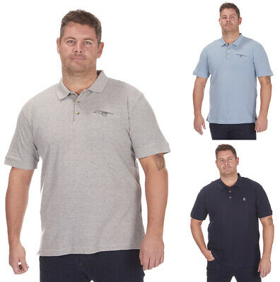 Mens Plus Size Polo Shirt 100% Pique Cotton Big Large Tall Summer Short Sleeved