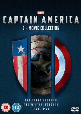Captain America 1-3 movie Collection DVD boxset new sealed free dispatch
