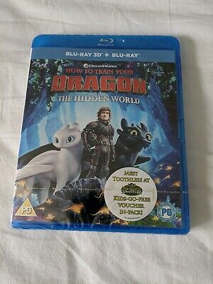 How To Train Your Dragon The Hidden World Blu Ray 3D + Blu Ray BRAND NEW, sealed