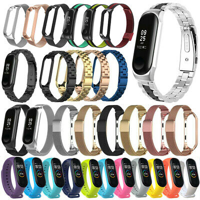 New For Xiaomi Mi Band 4 2019 Silicone/Leather/Stainless Steel Watch Band Strap