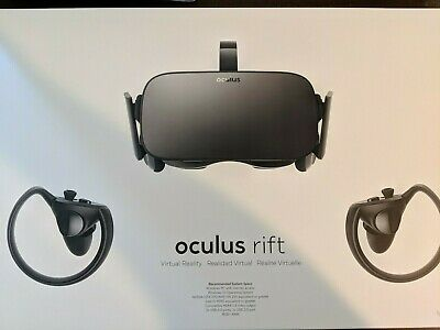 Oculus Rift Virtual Reality System w/ 2 Touch Controllers and 2 Sensors (Used)