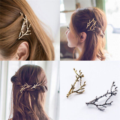 Celebrity Metal Tree Branch Hairpins Gold Silver Hair Clip for Lady Bobby Pin hb