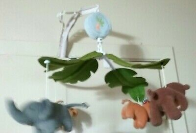 Lambs & Ivy Jungle Safari Animals Musical Baby Crib Mobile Replacement