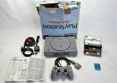 Sony Playstation PS1 SCPH-9002 Tested VGC Memory Card + Final Fantasy VII Game