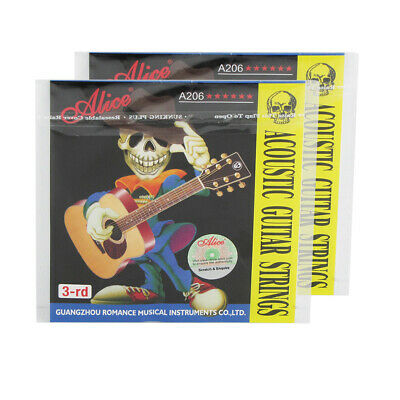 2PCS Alice Acoustic Guitar G-3rd Strings Steel & Coated Copper Alloy Wound