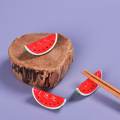 1pc Cute Red Watermelon/Tomato Ceramic Decorative Chopsticks Holder Rack ^S