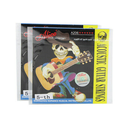 Alice 5PCS Acoustic Guitar A Strings Steel Core with Coated Copper Alloy Wound