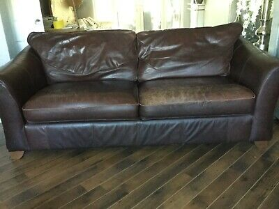 MARKS & SPENCER Abbey 4 seater leather sofa - £50.00 ...