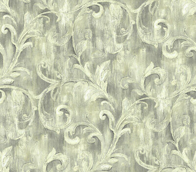 Painterly Acanthus Wallpaper in Antique Luster AR30100 from Wallquest