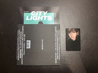 EXO BAEKHYUN 1st Mini Album CITY LIGHTS CD Night Ver. with Photocard B