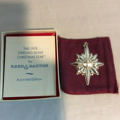 Reed & Barton 1978 Sterling Star ornament  #10377