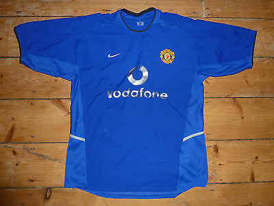 large MANCHESTER UNITED Shirt home 2002 Third Kit soccer Jersey maglia
