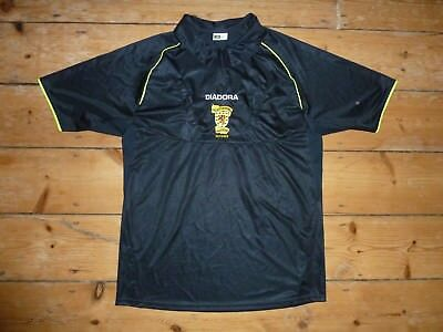 MATCH WORN +large Scotland Referee Football Shirt  Black SFA Jersey w/ Pockets