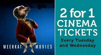 Meerkat Movies 2 For 1 Cinema Code *Instant!* 16th/17th July!