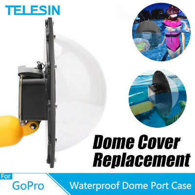 TELESIN 6in Waterproof Dome Port Housing Case for GoPro Session Hero 6/5/4/3 DR