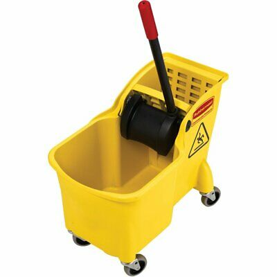 NEW Rubbermaid Commercial 31 Qt. All-in-one Tandem Mopping Bucket and Wringer