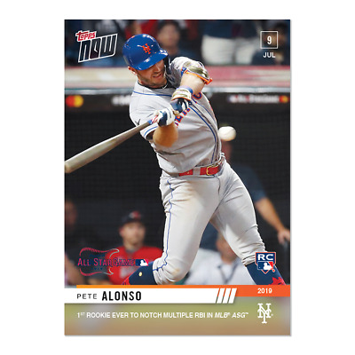 2019 Topps NOW 496 Pete Alonso RC New York Mets 1st Multiple RBI in MLB ASG