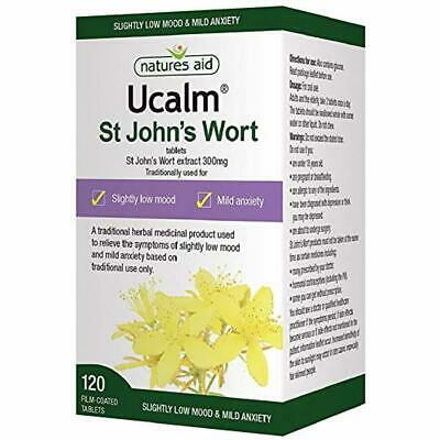 Natures Aid Ucalm St John's Wort Extract, 300 mg, 120 Tablets (Relief of the S
