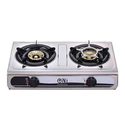 Portable Gas Stove 2 Double Burner Outdoor Cooktop Cooker Hob 7.6kW NJ NGB-60 UK