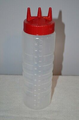 Vollrath Traex 4924 24 Ounce Clear Tri Tip  Wide Mouth Squeeze Bottle-NEW