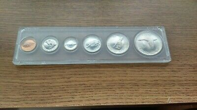 1967 Canada Centennial Complete Coin Set in Plastic Holder - Silver Coins