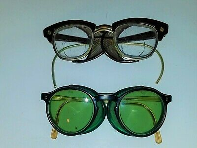 Vtg Lot Ao American Optical Goggles Side Shield Willson Safety Glasses Steampunk