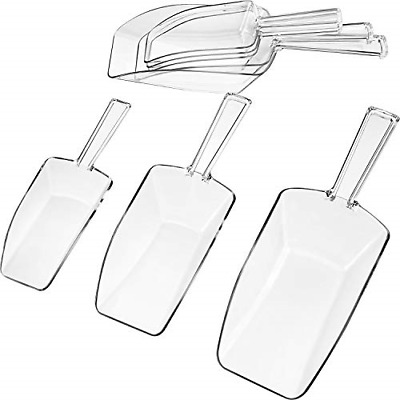 Hestya Multi-Purpose Plastic Clear Kitchen Scoops, Ice Scoop for Weddings, Candy